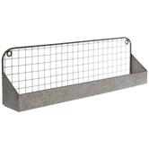 Galvanized Wire Metal Wall Shelf