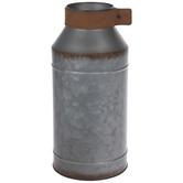 Rustic Galvanized Metal Vase