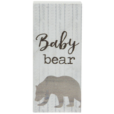 Baby Bear Wood Decor