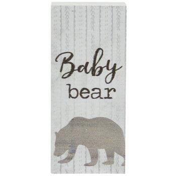 Baby Bear Wood Decor