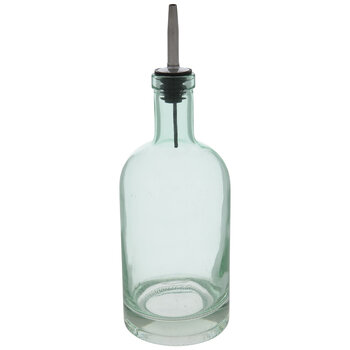 Green Glass Oil Cruet