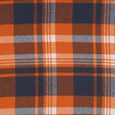 Orange & Blue Plaid Flannel Fabric