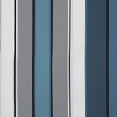 Blue, Gray & White Striped Outdoor Fabric