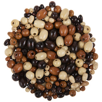 Earth Multi Oval & Round Wood Beads