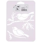 Sparrows Stencil