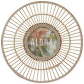 Aloha Round Rattan Wall Decor