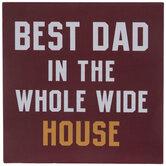 Best Dad Wood Decor