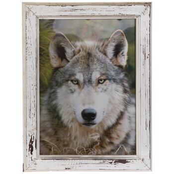 Wolf Lenticular Wood Wall Decor