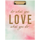 Do What You Love Watercolor Clipboard & Notepad