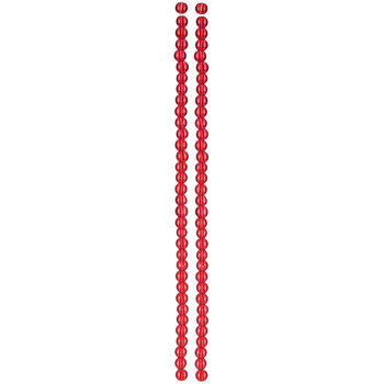 Red Combo Dyed Glass Bead Strands
