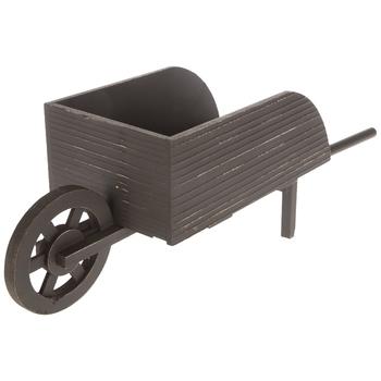 Distressed Wood Wheelbarrow