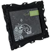 """Black Glossy Ornate Frame - 10"""" x 8"""""""