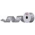 Silver Crinkled Single-Face Satin Ribbon - 1 1/2