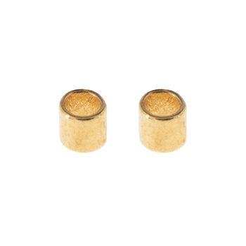 18K Gold Plated Crimp Tubes - 2mm