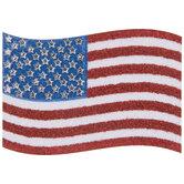 American Flag Glitter & Rhinestone Sticker