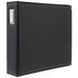 Black Vinyl 3-Ring Scrapbook Album - 12