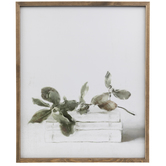 Books & Leaves Wood Wall Decor