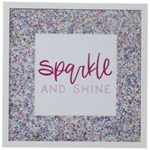 Sparkle And Shine Confetti Framed Wall Decor