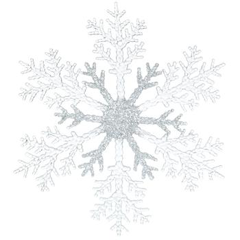 Large Glitter Snowflake Ornament