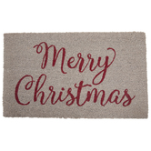 White & Red Merry Christmas Doormat