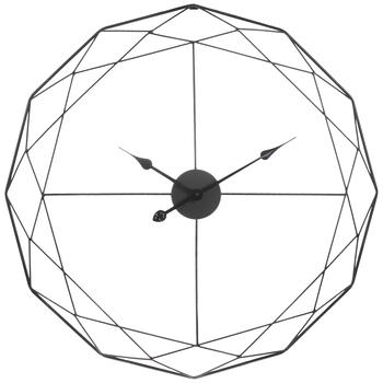 Geometric Wire Metal Wall Clock