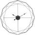 Black Geometric Wire Metal Wall Clock