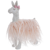 White Llama With Pink Fur