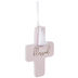 Blessed Pink Wood Wall Cross