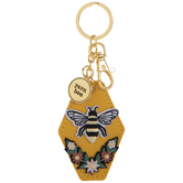 Yarn Bee Layered Keychain