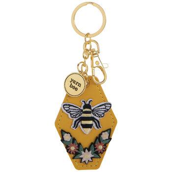 Yarn Bee Layered Keychain