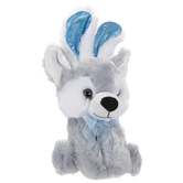 Husky Dog With Bunny Ears Plush