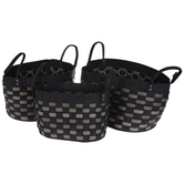 Black Felt Baskets Set