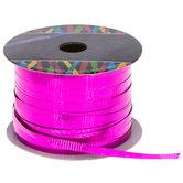 "Bright Pink Metallic Curling Ribbon - 3/16"""