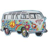 VW Hippie Van Metal Sign