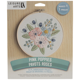 Pink Poppies Embroidery Kit