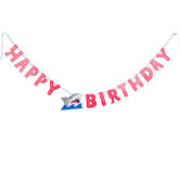 Shark Party Happy Birthday Banner