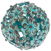 Antique Metal Flower Decorative Sphere