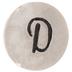 Hammered Alphabet Snap Charm - D