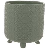 Green Geometric Flower Pot