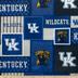 Kentucky Block Collegiate Fleece Fabric