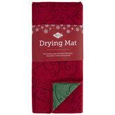 Red & Green Swirl Reversible Drying Mat