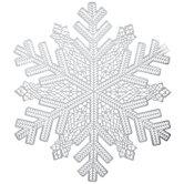 Silver Snowflake Placemat