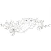 Floral Rhinestone & Pearl Bridal Applique
