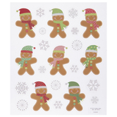 Gingerbread Men Glitter Stickers
