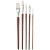 White Nylon Paint Brushes - 5 Piece Set