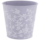 Floral Embossed Metal Container