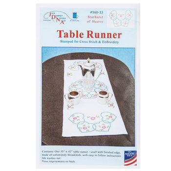 Sunburst of Hearts Table Runner Needle Art Kit