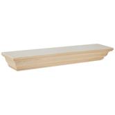 "Wood Mantel Wall Shelf - 24"""