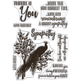 Peacock Condolences Clear Stamps