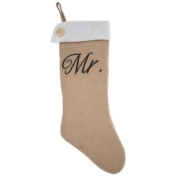 Mr Burlap Stocking